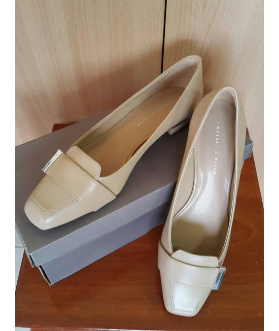 Charles and Keith Shoe - Beige-38