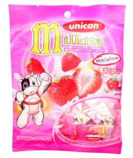 Milkita Strawberry Milk Candy Bag