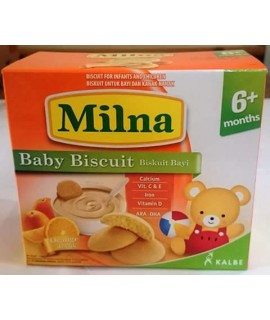 Milna Baby Biscuit Orange 6+ month 130g