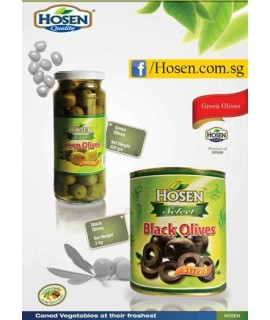 Hosen Sliced Black Olive