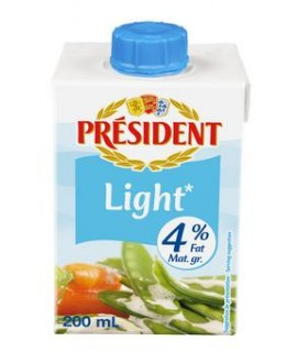 President Light Cream 4% Fat
