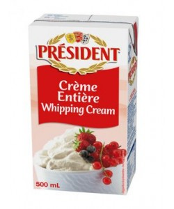 President UHT Whipping Cream Red