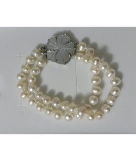 Fresh Water Pearl and Mother of Pearl Bracelet
