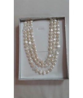 Fresh Water Pearl Necklace White