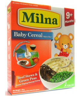 Milna Baby Cereal Beef Stews & Green Peas
