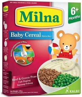 Milna Baby Cereal Beef & Green Peas (6+ Months)