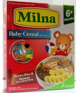 Milna Baby Cereal Brow Rice & Banana (6+ Months)