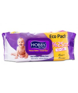 Hobby Baby Wipes-Gentle Care With Cap