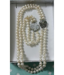 Fresh Water Pearl and Mother of Pearl Set