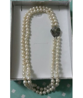 Fresh Water Pearl and Mother of Pearl Necklace